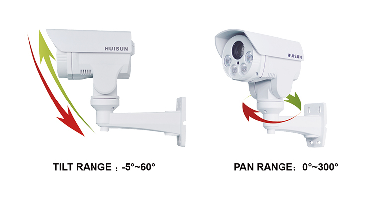 300 degree rotation cctv ir bullet camera ptz