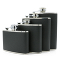 Hip flask leather wrapped flagon with high quality stainless steel