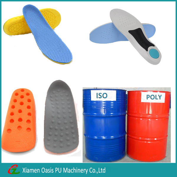 polyol and isocyanate for polyurethane resin used for shoe sole