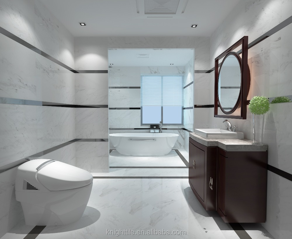 60x60 matted and polished crystal super white porcelain carrara marble look stone ceramic <strong>wall</strong> and floor tile