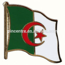 Wholesale souvenir Factory supply algeria brass photo etched cross flag pins