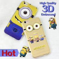 despicable me minion for iphone 6s case mobile cell cover for samsung s6