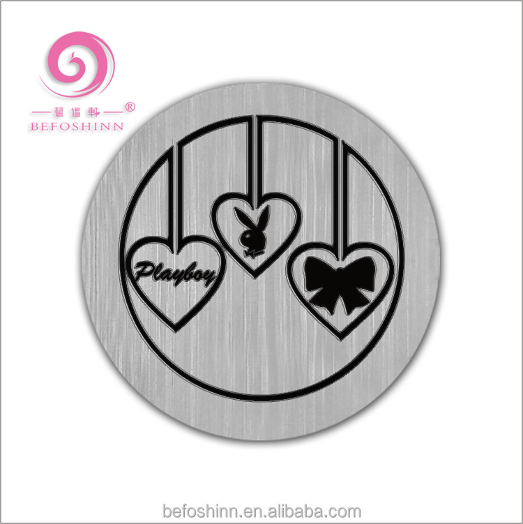 316L Stainless Steel Floating Charms Locket Round Plate Window Plates for 30mm Lockets