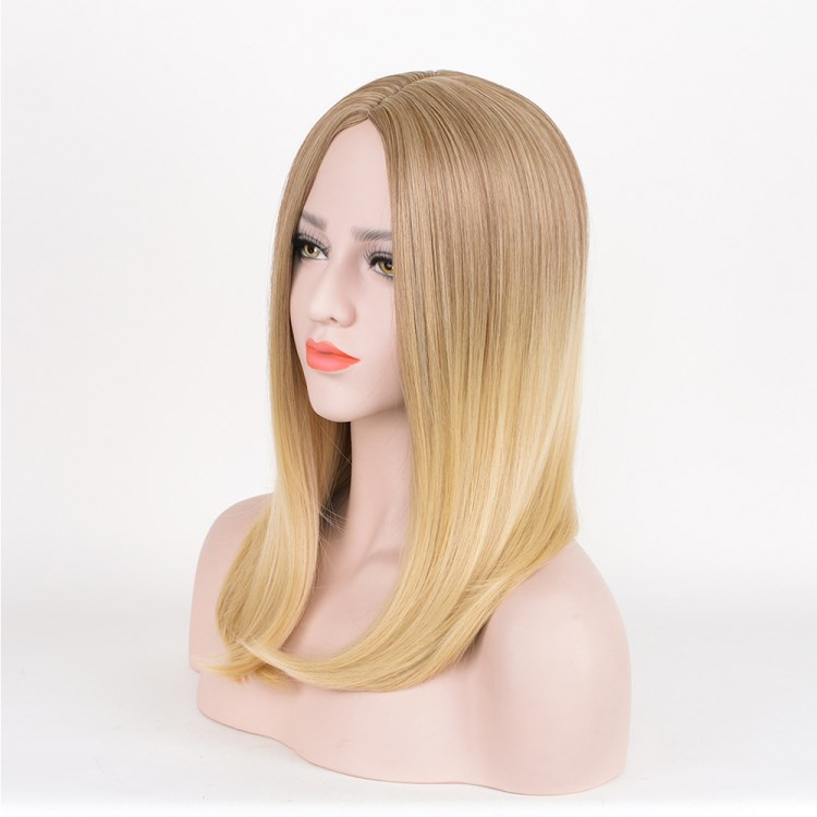 Fashion Lvanka Trump Same Style Long Straight Blonde Brown Wig