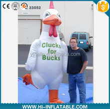 Hot sale customized inflatable moving chicken cartoon,inflatable chicken for promotion