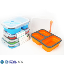 Low Cost Silicone Lunchbox Collapsible Cheap Kids Lunch Boxes