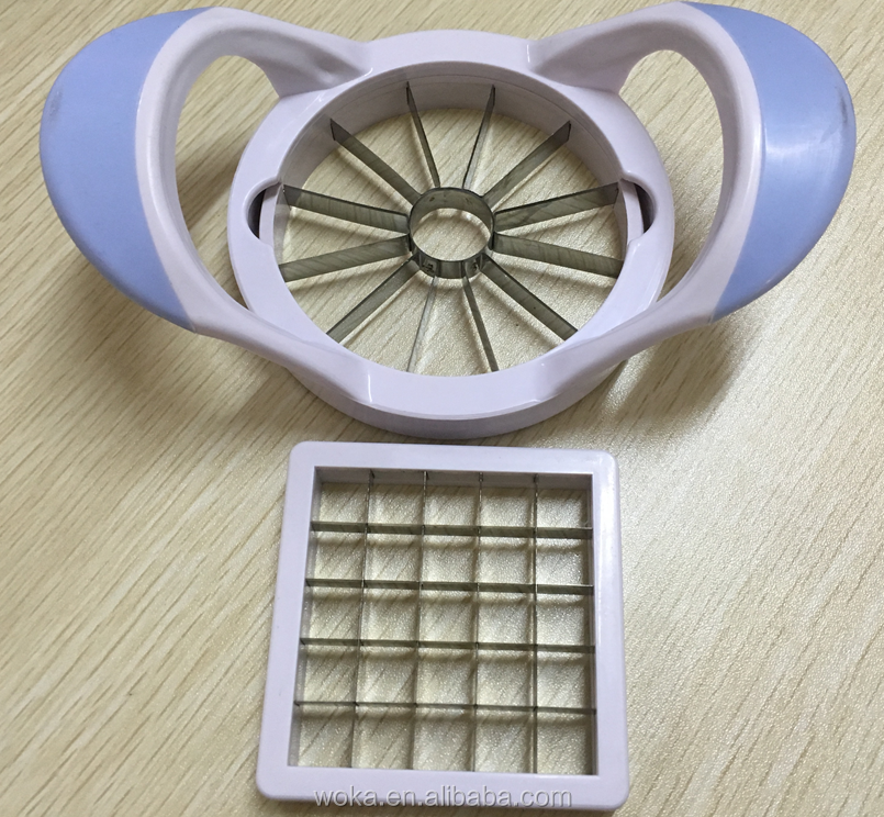 taizhou best sale Fruit and Vegetable Slicer Set Kitchen Apple Cutter and Potato chip Cutter
