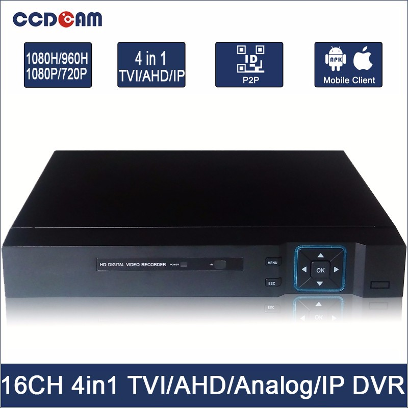 H.264 16Channel Security CCTV Stanalone Four in one DVR