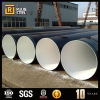 coated spiral epoxy coated steel pipe/polyethylene pipe/ epoxy powder coated pipe for oil and gas pipeline system