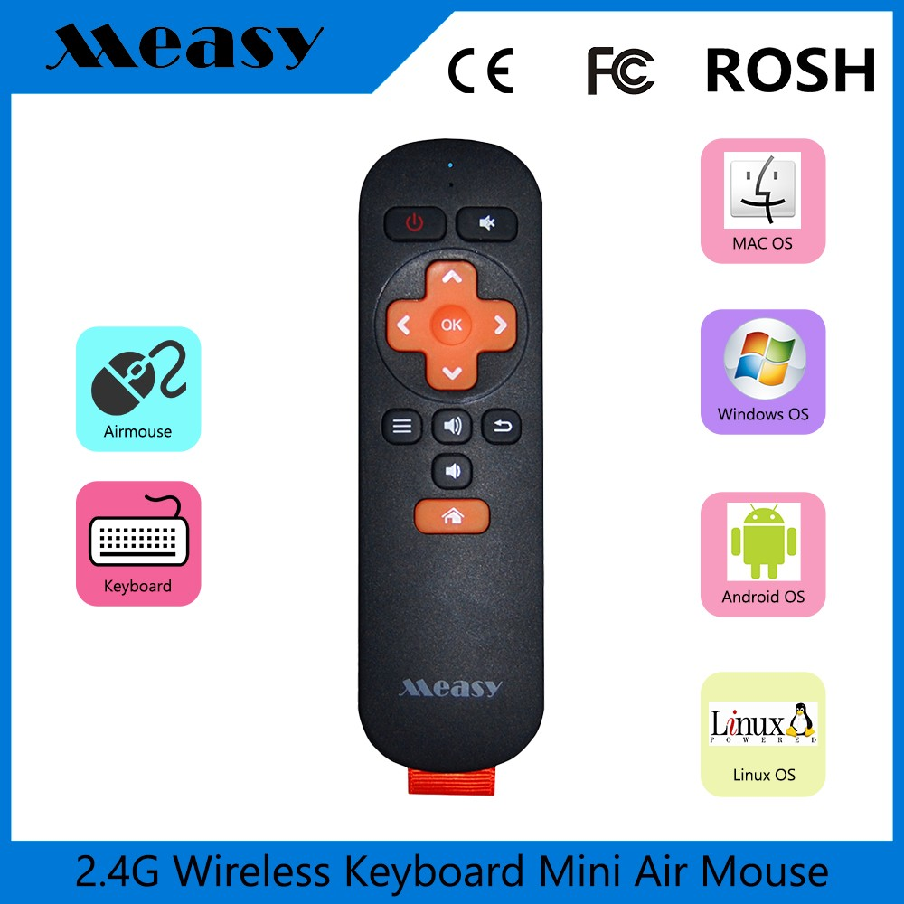 Universal wireless gyroscope tv remote for android smart tv box