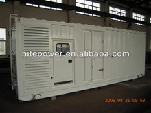 Complete sound off Reliable Operation container type generator set for sale