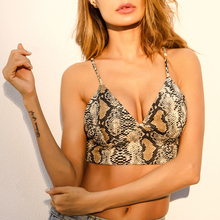 Fashion deep V sexy serpentine crop tops, hot girl sexy camisole