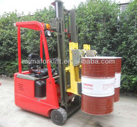 Forklift with oil drum picker