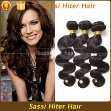 High quality resonable auburn remy hair weave