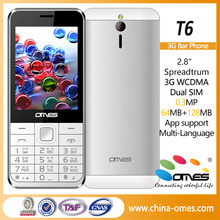 low cost 3g mobile phone, 2.8 inch QVGA 240*320, SC7701, 3g dual sim analog tv mobile phone
