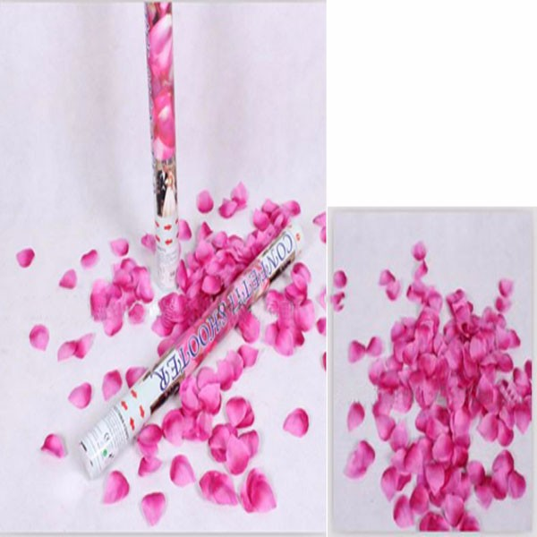 wholesale rose red petals party popper for wedding