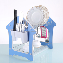 Kitchen Storage Shelves Glove Practical Cooking Tools Cutlery Sponge Holder Dish Rack