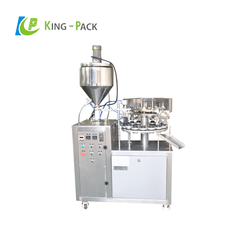 Semi-automatic cosmetic toothpaste aluminum tube filling and sealing machine