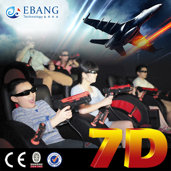 Wearing the 3d glasses to have a forest adventure--7d entertainment theater