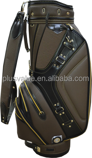 wholesale high quality custom handmade PU leather golf women bag