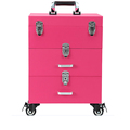 HX-BL025 professional trolley case,red makeup trolley case