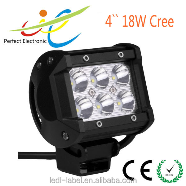 "4"" 18w double row led work light WM-B18CR-B 12 volt led light bar"