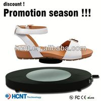 new invention ! magnetic levitating led display stand for shoe woman,american ladies shoes
