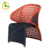 RTA modern armrest wicker patio dining chairs