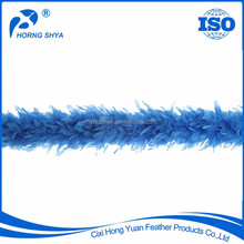 Alibaba Horng Shya Feather Crafts Product 100% Feather Customized Blue Feather Boa