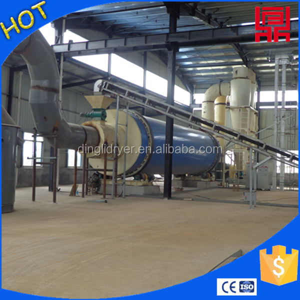 Efficient and quick drying medicine waste/antibiotic drug residue rotary drum dryer for sale