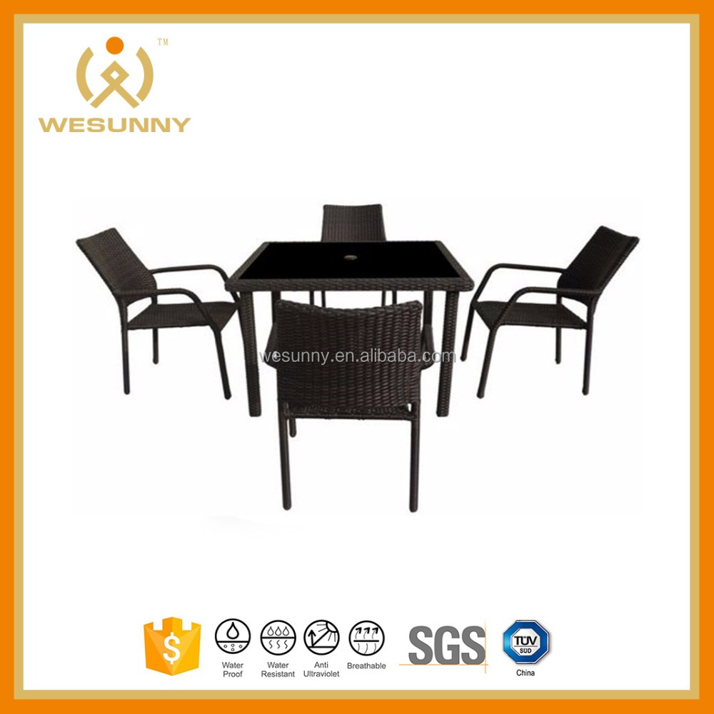 Bayfield Rattan Effect 4-piece bistro dining Set