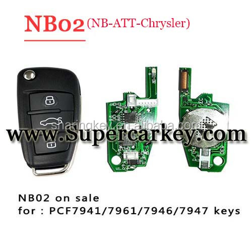 2016 Newest NB02 3 button remote key with NB-ATT-Chrysler model for KD900/URG200 machine with best quality