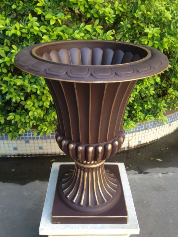 decorative large plastic garden outdoor urn tall flower pot buy outdoor tall wholesale. Black Bedroom Furniture Sets. Home Design Ideas