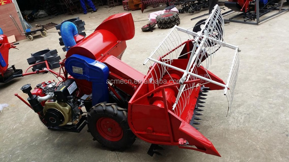 4LZ-0.6A rice wheat combine harvester 11
