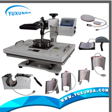 cloth logo printing machine price 8 in 1heat press 15'*15' YXD-D88 card embossing machine
