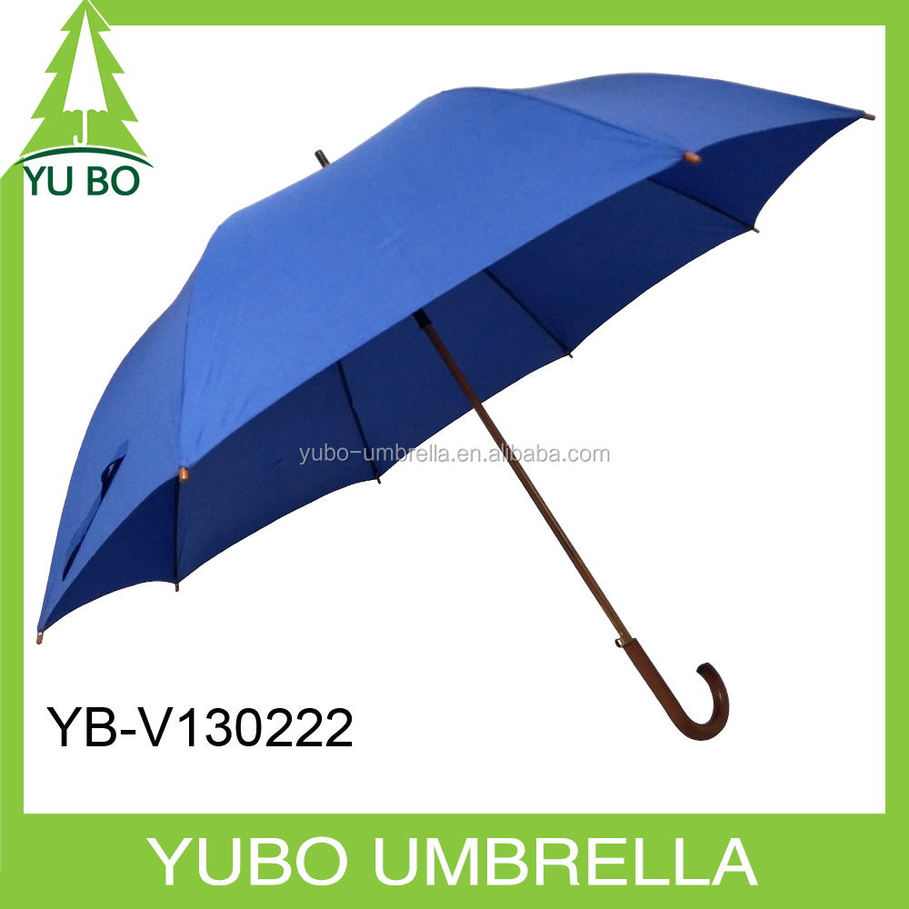 China factory direct sale two persons size wooden handle golf umbrella with customized logo