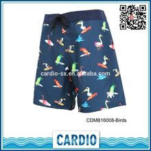 mens bird shorts hot sell surf boys wearing short shorts