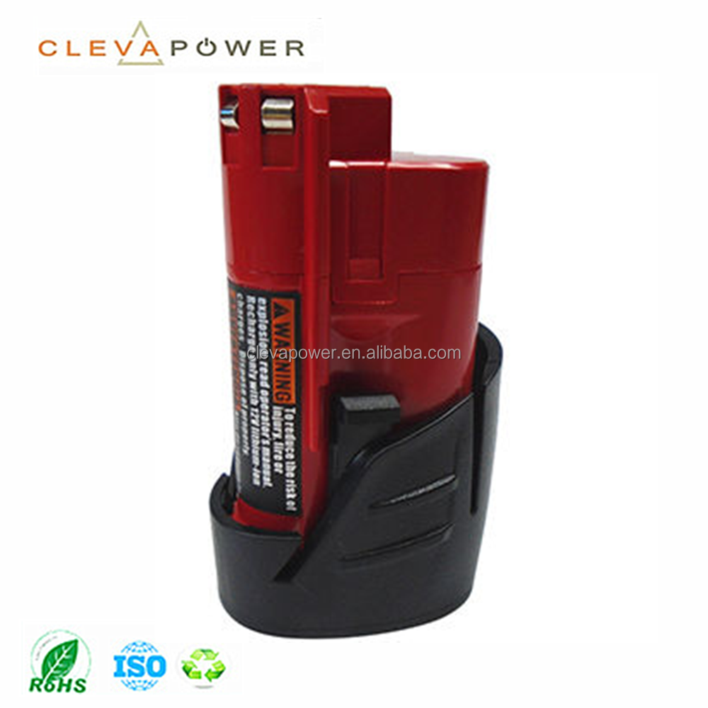 Power Tool Battery Packs for M12 Cordless Drill 48-11-2401, Lithium 1.5, 2.0, 2.5Ah