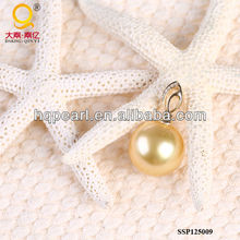 fashion jewelry South Sea Gold pearl pendant necklace 18k gold south sea gold pearl