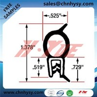 ISO9001 high performence waterproof EPDM sealing strip with RUBBER seal boot