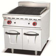(#700)New Commercial Gas Lava Rock Stainless Steel Grill With Cabinet(OT-849D)