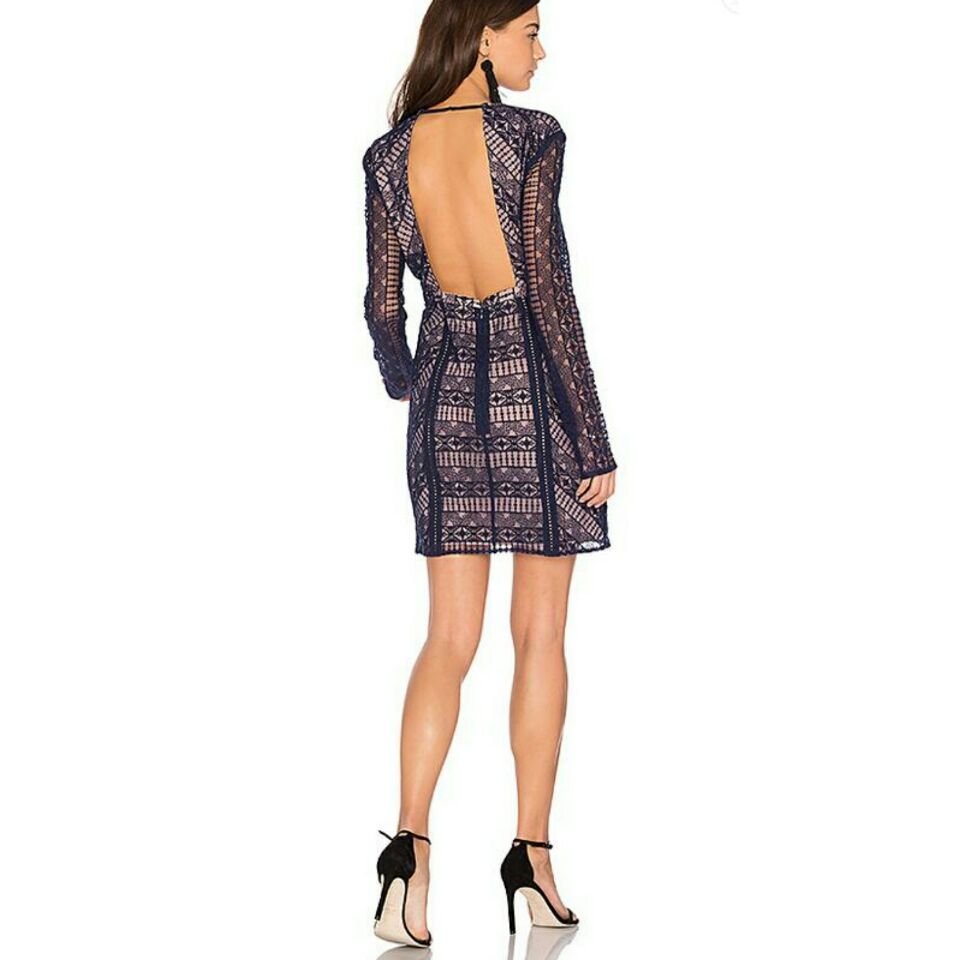 Spring Summer Autumn deep purple printed backless bodycon mini dress vestidos