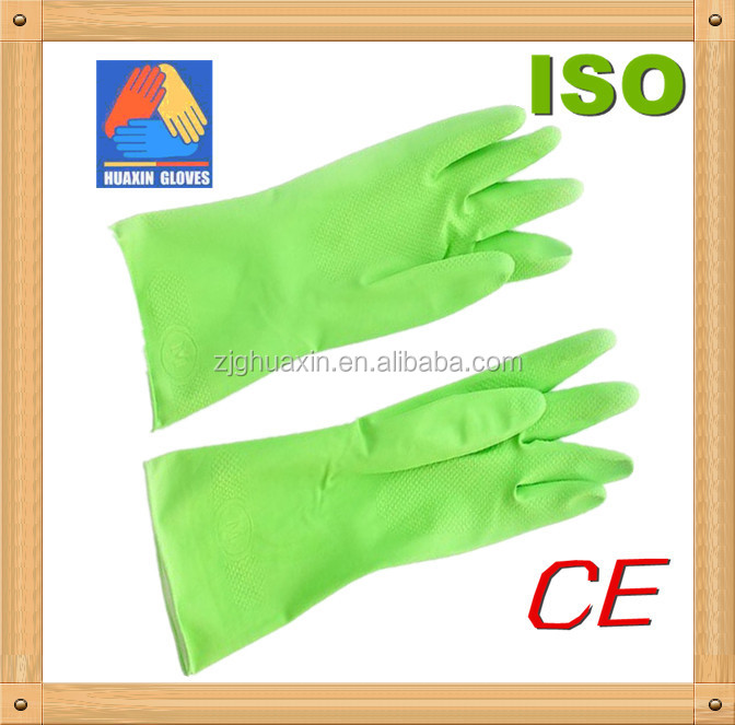 household latex free rubber gloves for dish washing, household glove