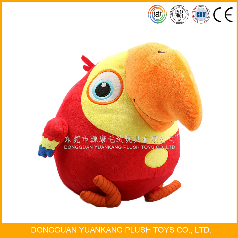 Custom Cute Lovely Animal Plush Stuffed Toys Parrot Birds