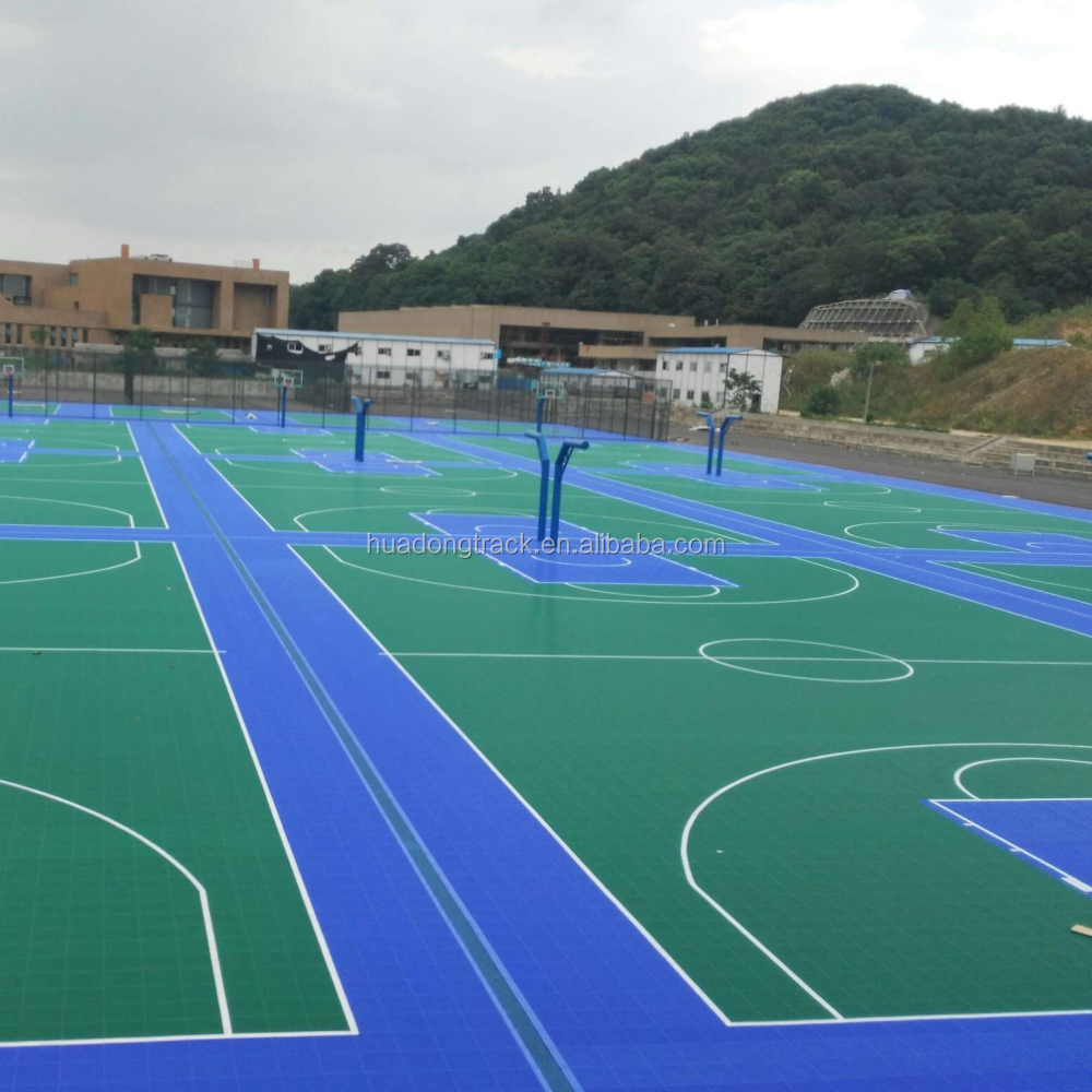 plastic portable volleyball tennis court sports flooring surface outdoor, floor tile basketball