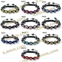 Shamballa Bracelets Crystal Balls Accessories For Women Dress (5Pcs)-SHAZmix1