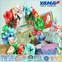 Custom various candy color polyester christmas glitter bowknot