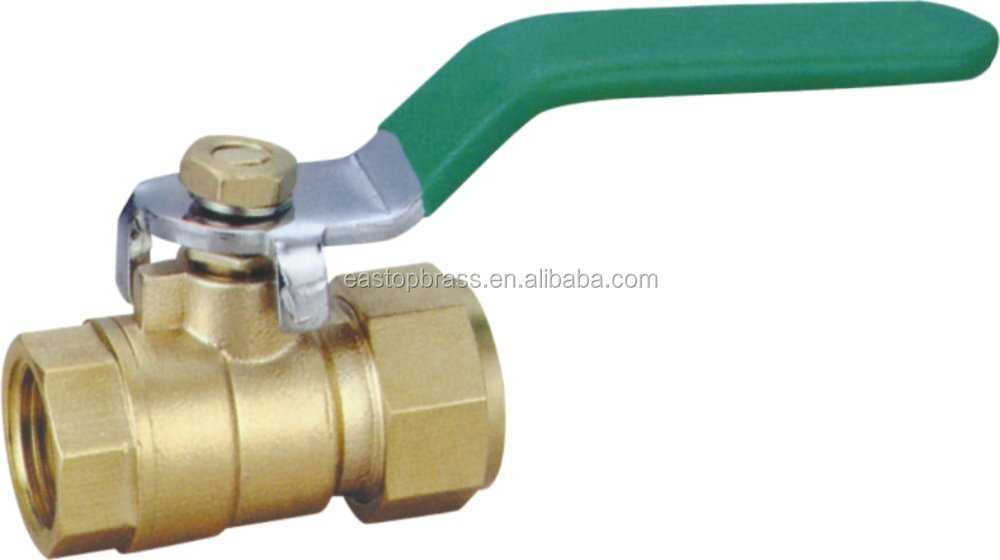 female high quality long handle manual forged brass ball valve
