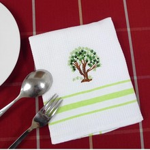 100% cotton waffel yarn deyd tea towel/kitchen towel/dish towel