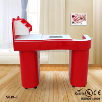 Nail table led lamp/marble top nail table/glass nail tables KZM-N049-1